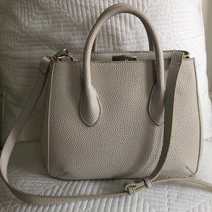 ZARA white faux leather handbag